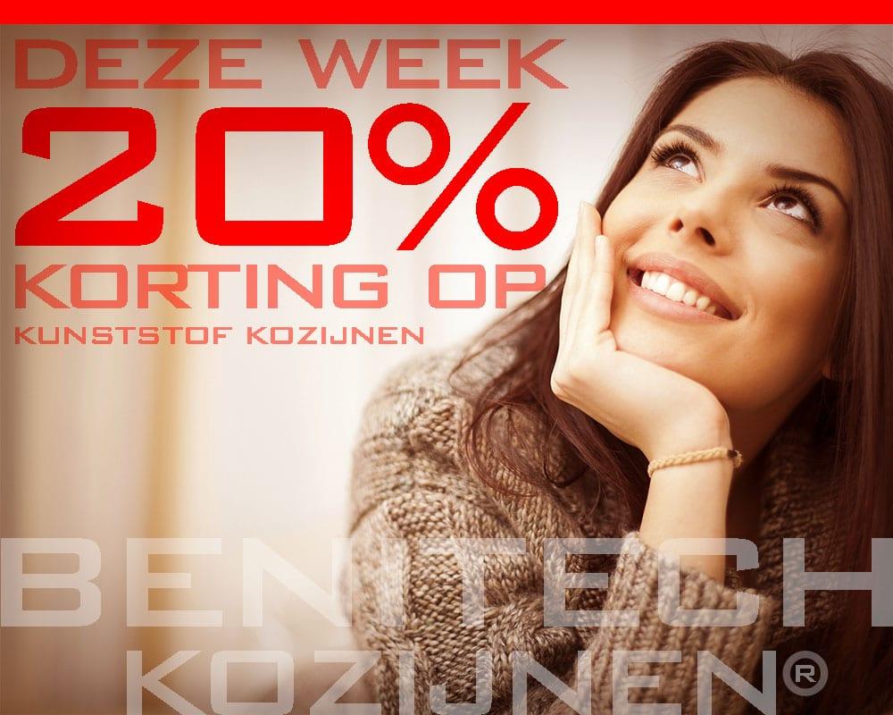 Deze week 20% korting op kunststof kozijnen
